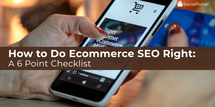 How to Do Ecommerce SEO Right: A 6 Point Checklist